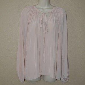 NWT $324 Sz S Ramy Brook Blush Pink Tie Blouse